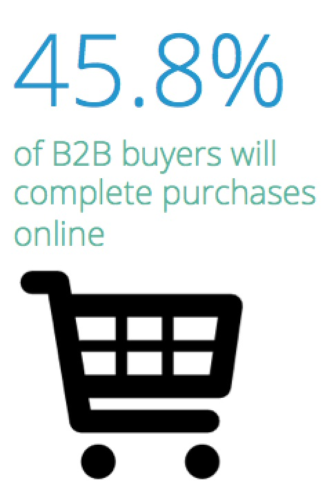 Percentage of online B2B shoppers