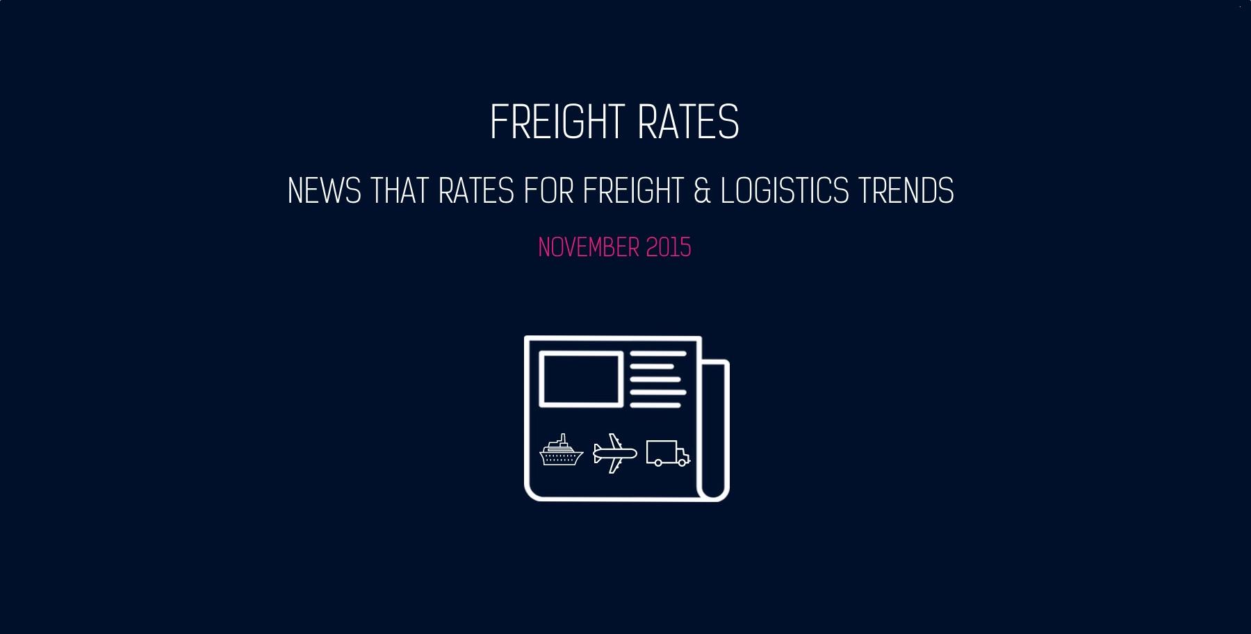 November 2015 Freight News