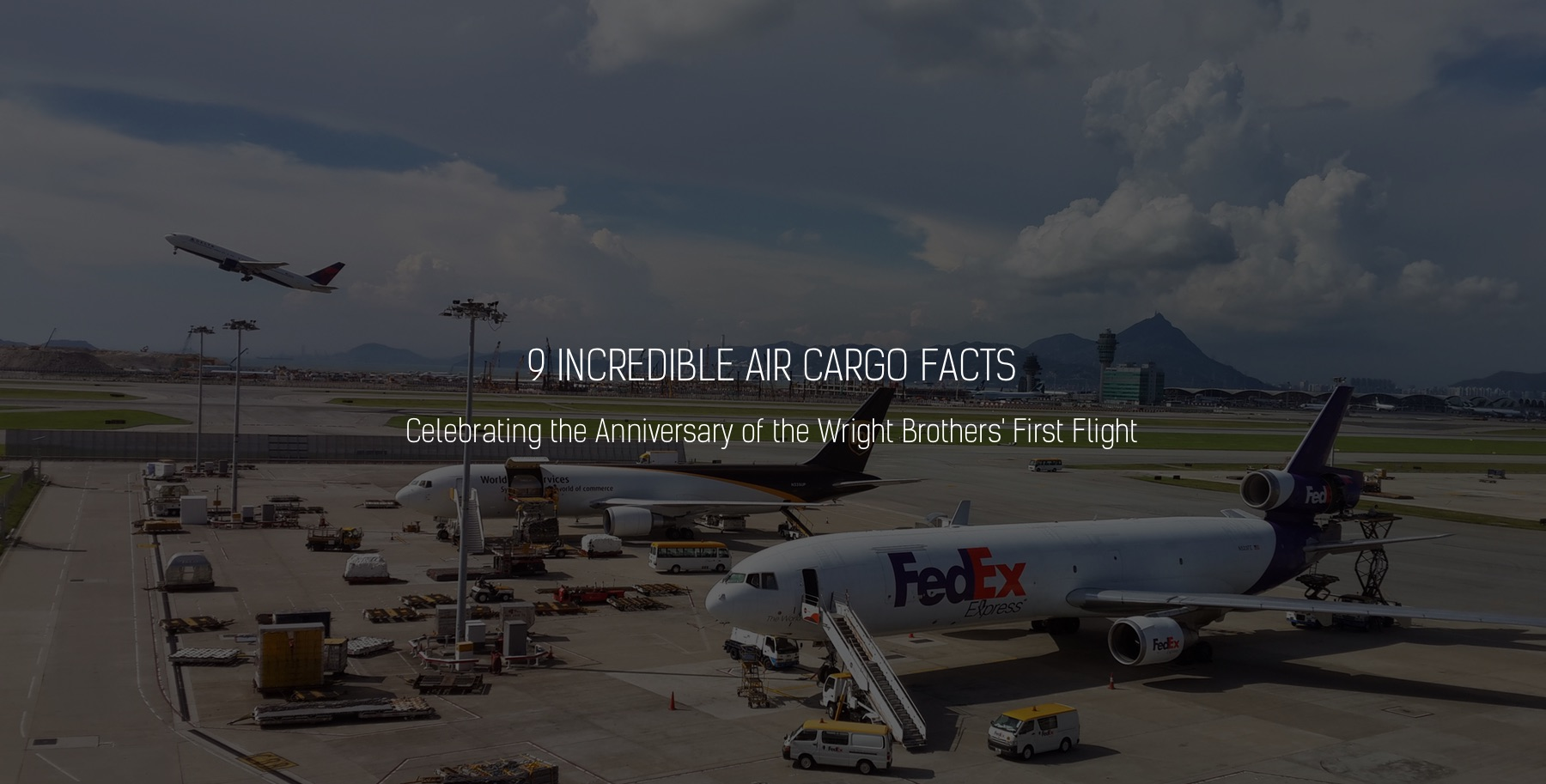 Air cargo facts for the Wright Brothers' first flight