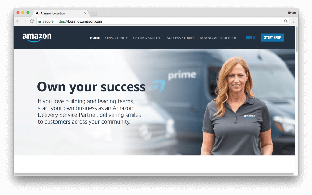 Amazon Delivery Service Partner Screenshot