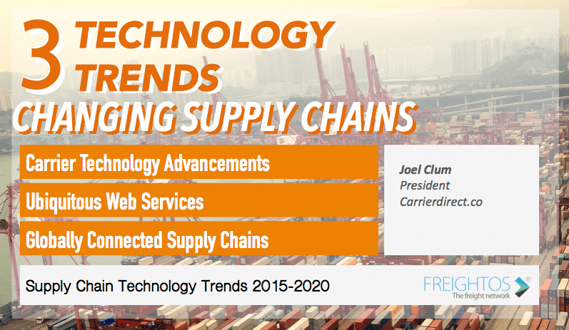 Supply chain and logistics trends predictions