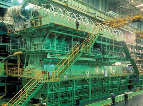 Engine room at the Emma Maersk