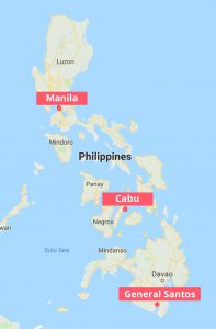 Ports in the Philippines Map