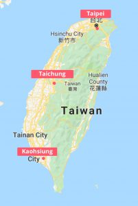 Ports in Taiwan Map