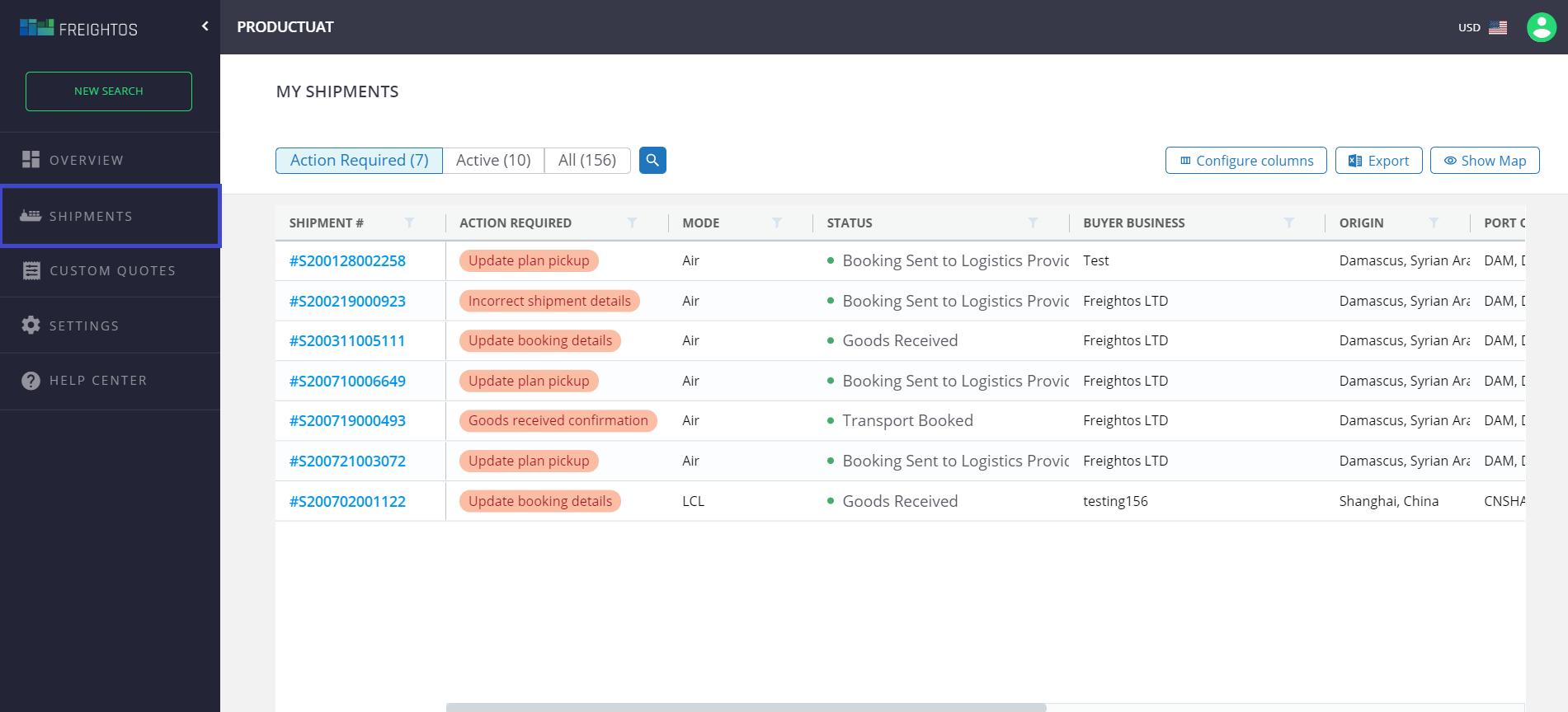 freightos.com shipment health bot